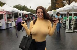 Huge Boobs Public Pics