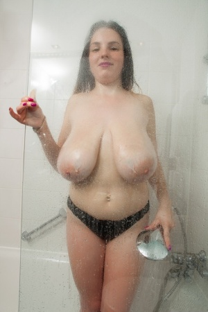 Huge Boobs Shower Pics