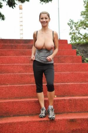 Huge Boobs Yoga Pants Pics
