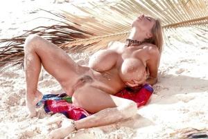 Huge Boobs On Beach Pics