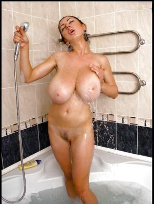 Huge Boobs Shower Pics